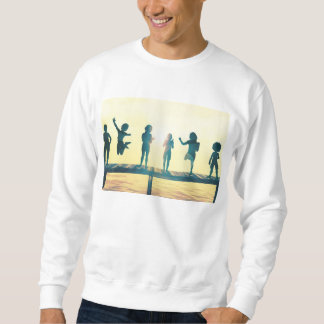 Happy Children Playing in the Park Illustration Sweatshirt