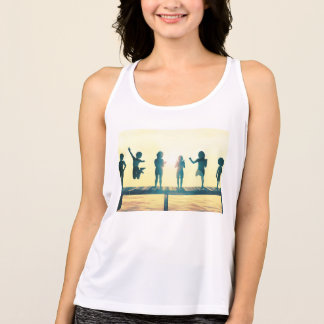 Happy Children Playing in the Park Illustration Tank Top