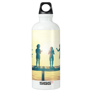 Happy Children Playing in the Park Illustration Water Bottle