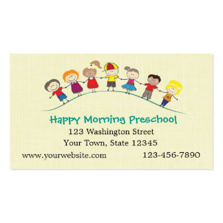 Happy Children Preschool Business Card
