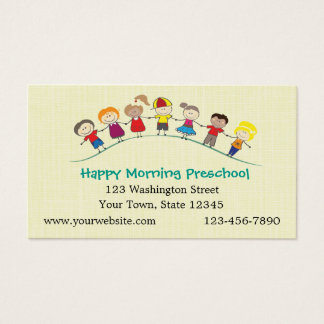 Happy Children Preschool Business Card