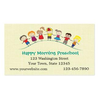 Happy Children Preschool Pack Of Standard Business Cards