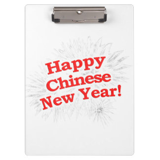 Happy Chinese New Year Design Clipboard