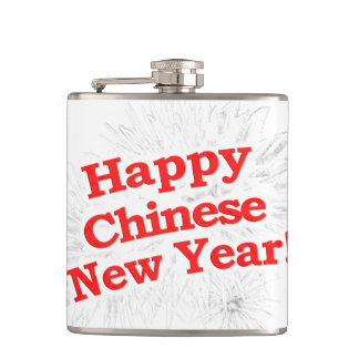 Happy Chinese New Year Design Hip Flask