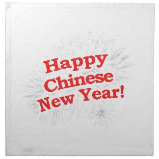 Happy Chinese New Year Design Napkin