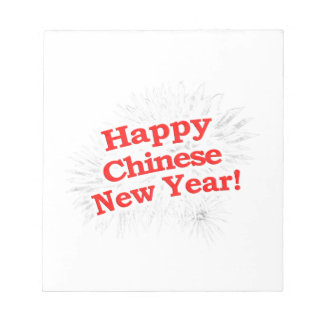 Happy Chinese New Year Design Notepad
