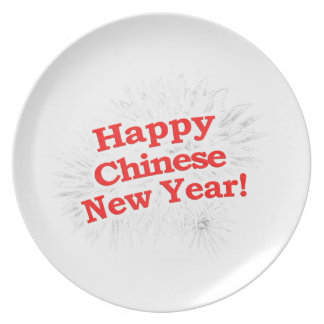 Happy Chinese New Year Design Plate