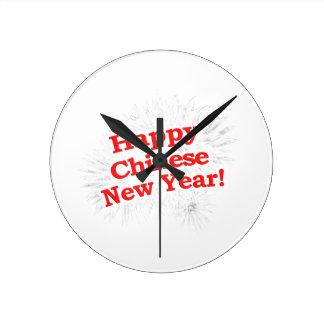 Happy Chinese New Year Design Round Clock