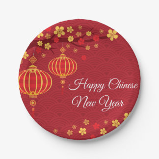 Happy Chinese New Year Paper Plate