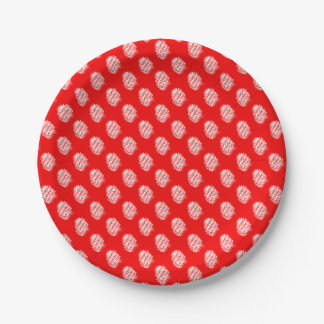 Happy Chinese New Year Pattern 7 Inch Paper Plate