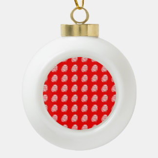 Happy Chinese New Year Pattern Ceramic Ball Ornament