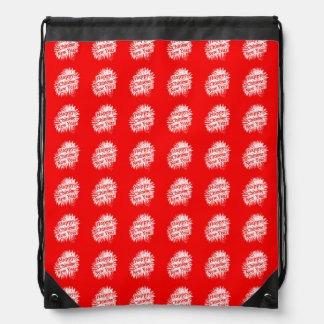 Happy Chinese New Year Pattern Drawstring Bag