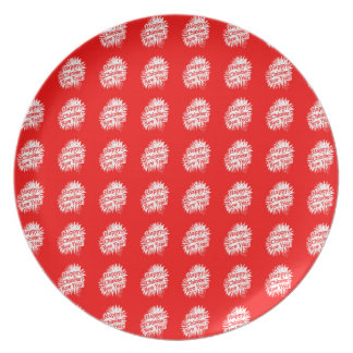 Happy Chinese New Year Pattern Party Plate