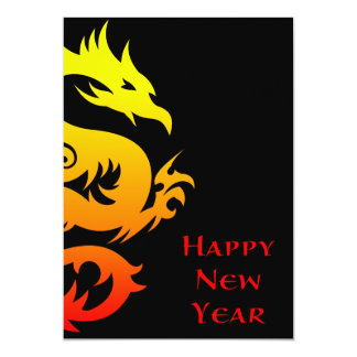 """happy chinese new year : year of the dragon 2012 5"""" x 7"""" invitation card"""