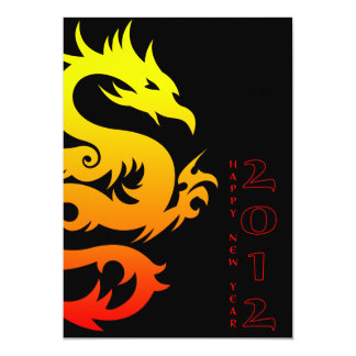 """happy chinese new year : year of the dragon 5"""" x 7"""" invitation card"""