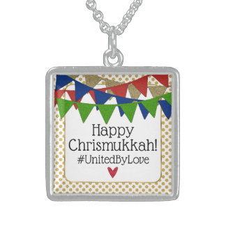 Happy Chrismukkah United by Love Sterling Silver Necklace
