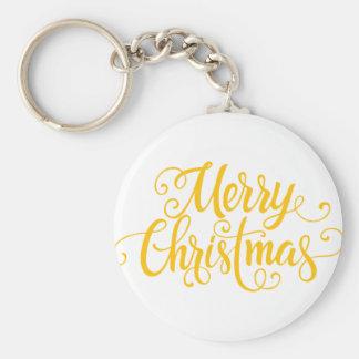 happy christmas basic round button keychain