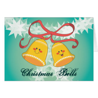 Happy Christmas Bells Note Card