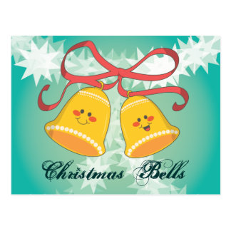 Happy Christmas Bells Postcard