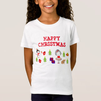 Happy Christmas Cute Whimsy Festive T-Shirt