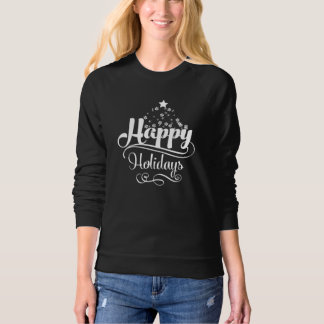 Happy Christmas Holidays Raglan Sweatshirt