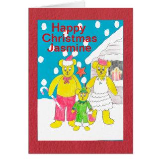 Happy Christmas Jasmine Greeting Card