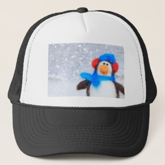 Happy Christmas Penguin Trucker Hat