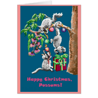 Happy Christmas Possums! Aussie Christmas card