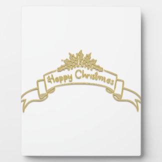 Happy Christmas Royal Golden letters Plaque