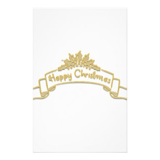 Happy Christmas Royal Golden letters Stationery