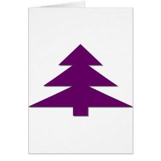 Happy Christmas Tree Greeting Card