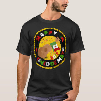 Happy Cinco de Mayo 2017 Guitar Mexican Flag Shirt