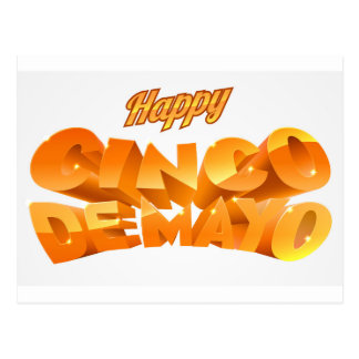 Happy Cinco De Mayo Banner Postcard
