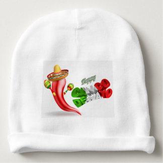 Happy Cinco De Mayo Chilli Pepper Design Baby Beanie