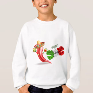 Happy Cinco De Mayo Chilli Pepper Design Sweatshirt