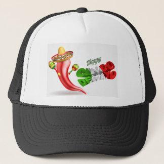 Happy Cinco De Mayo Chilli Pepper Design Trucker Hat