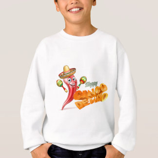 Happy Cinco De Mayo Chilli Pepper Mexican Design Sweatshirt