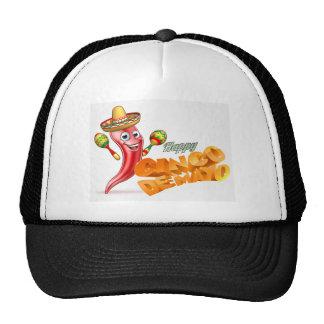 Happy Cinco De Mayo Chilli Pepper Mexican Design Trucker Hat