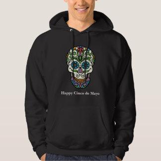 Happy Cinco de Mayo Colorful Sugar Skull Hoodie