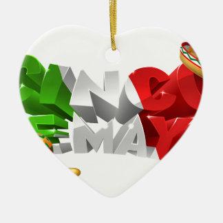 Happy Cinco De Mayo Design Ceramic Ornament