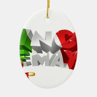 Happy Cinco De Mayo Design Ceramic Oval Ornament