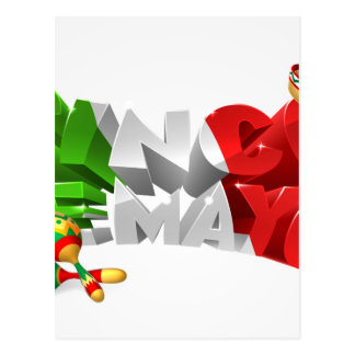 Happy Cinco De Mayo Design Postcard