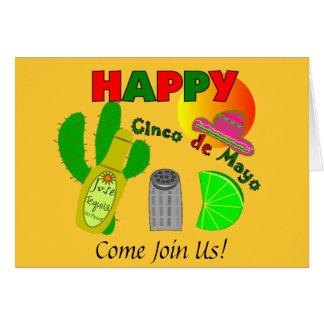 """Happy Cinco de Mayo"" Lime, Tequila & Salt Design Card"