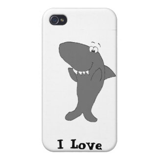 Happy Clapping Cartoon Shark iPhone 4/4S Cover