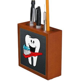 Happy clean tooth desk organizer