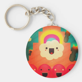 Happy Cloud Keychain