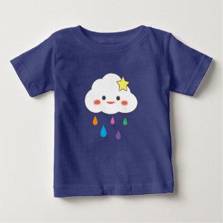 Happy Cloud & Rainbow Droplets Baby T-Shirt