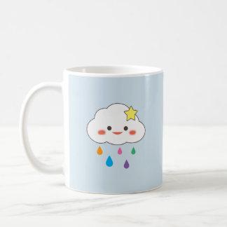 Happy Cloud & Rainbow Droplets Coffee Mug