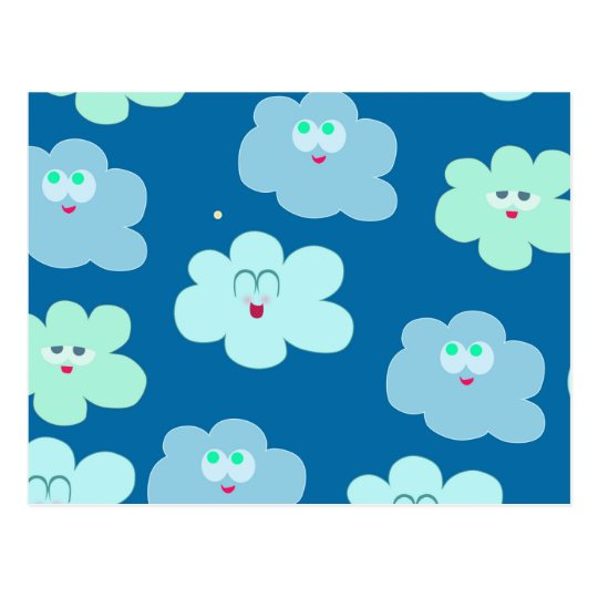Happy Clouds Postcard