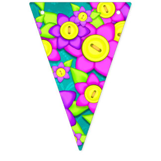 Happy Clown Bunting Flags